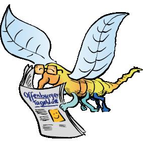 Robby Rheinschnake mit dem Offenburger Tageblatt
